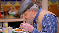 Gordon Ramsay turns grandad in the latest episode of his American TV show called 'Gordon Ramsay's 24 Hours to Hell and Back.'<br /> But his 'Grandpa Jim' disguise doesn't fool the waiters who realise it's the celebrity chef.<br /> Grandpa Jim and his family turn up to eat at Los Toros Mexican Restaurant  in Los Angeles, California. <br /> In the show, he has just 24 hours to bring the troubled restaurant back from the brink of disaster.