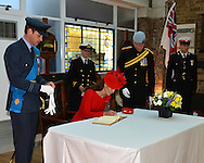 "QUEEN'S JUBILEE PAGEANT - KATE, WILLIAM and PRINCE HARRY.The Duchess of Cambridge signing the Royal Guest Book at HMS President..London. 03/06/2012.Mandatory Credit Photo: ©B Sutton/NEWSPIX INTERNATIONAL..**ALL FEES PAYABLE TO: ""NEWSPIX INTERNATIONAL""**..IMMEDIATE CONFIRMATION OF USAGE REQUIRED:.Newspix International, 31 Chinnery Hill, Bishop's Stortford, ENGLAND CM23 3PS.Tel:+441279 324672  ; Fax: +441279656877.Mobile:  07775681153.e-mail: info@newspixinternational.co.uk"