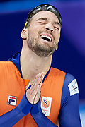 South Korea, PyeongChang - 2018 February 13: Kjeld Nuis from the Netherlands competes while Speed Skating - Men's 1500m Final during The 2018 PyeongChang Olympic Winter Games at Gangneung Oval on February 13, 2018 in PyeongChang, South Korea.<br /> <br /> Mandatory credit:<br /> Photo by &copy; Adam Nurkiewicz<br /> <br /> Adam Nurkiewicz declares that he has no rights to the image of people at the photographs of his authorship.<br /> <br /> Picture also available in RAW (NEF) or TIFF format on special request.<br /> <br /> Any editorial, commercial or promotional use requires written permission from the author of image.