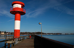 GERMANY ECKERNFOERDE 15FEB04 - Lighthouse in Eckernfoerde harbour, Germany.....jre/Photo by Jiri Rezac....© Jiri Rezac 2004..
