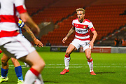 Doncaster Rovers midfielder James Coppinger (26) in action during the EFL Sky Bet League 1 match between Doncaster Rovers and Blackpool at the Keepmoat Stadium, Doncaster, England on 17 September 2019.