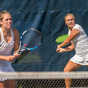 August 20, 2016, New Haven, Connecticut: <br /> Christina Zordani and Katherine Zordani in action during a US Open National Playoffs match at the 2016 Connecticut Open at the Yale University Tennis Center on Saturday, August  20, 2016 in New Haven, Connecticut. <br /> (Photo by Billie Weiss/Connecticut Open)