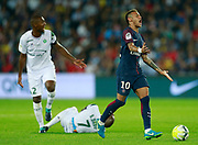 Paris Saint Germain's Brazilian forward Neymar Jr gestures during the French championship L1 football match between Paris Saint-Germain (PSG) and Saint-Etienne (ASSE), on August 25, 2017 at the Parc des Princes in Paris, France - Photo Benjamin Cremel / ProSportsImages / DPPI