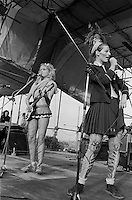 Ari Up, vocals and Viv Albertine, guitar. The Slits, Alexandra Palace, London 15-06-1980