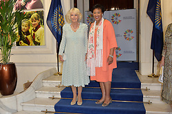 © Licensed to London News Pictures. 14/07/2016. Commomwealth Secretary-General PATRICIA SCOTLAND hosts HRH the DUCHESS OF CORNWALL at the inaugural Commonwealth Women's Leader's Summit at Marlborough House.  London, UK. Photo credit: Ray Tang/LNP
