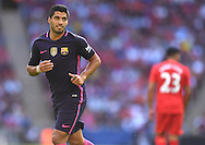Luis Suarez of FC Barcelona during the International Champions Cup match against Liverpool at Wembley Stadium, London<br /> Picture by Andrew Timms/Focus Images Ltd +44 7917 236526<br /> 06/08/2016