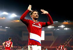 Gaston Ramirez of Middlesbrough celebrates scoring a goal to make it 1-0 - Mandatory by-line: Robbie Stephenson/JMP - 05/12/2016 - FOOTBALL - Riverside Stadium - Middlesbrough, England - Middlesbrough v Hull City - Premier League