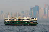 Star Ferries boats crossing the Harbour, , Hong Kong, Hong Kong