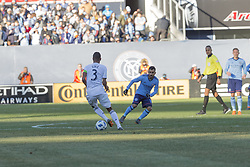 March 11, 2018 - New York, New York, United States - Ashley Cole (2) of LA Galaxy controls ball during regular MLS game against NYC FC at Yankee stadium NYC FC won 2 - 1  (Credit Image: © Lev Radin/Pacific Press via ZUMA Wire)