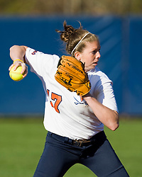 Virginia shortstop Carly Winger (17).  The Virginia Cavaliers softball team fell to the Georgetown Hoyas 4-0 at the University of Virginia's The Park in Charlottesville, VA on March 20, 2008.