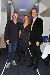 Left to right, HESTON BLUMENTHAL, TRACEY EMIN and RICHARD E GRANT at the launch of Flight BA2012 - an evening of Art, Food and Film to see Olympic Games inspires work by rising British Talent held at BA's pop up venue at 3-10 Shoreditch High Street, London E1 on 3rd April 2012.