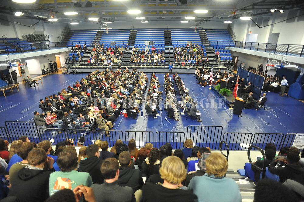 A Naturalization Ceremony in U.S. District Court for the Northern District of Mississippi, at Oxford High School in Oxford, Miss. on Tuesday, November 18, 2014. The ceremony was the first the court has ever held at the school.