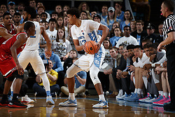 CHAPEL HILL, NC - JANUARY 27: Cameron Johnson #13 of the North Carolina Tar Heels plays against the North Carolina State Wolfpack on January 27, 2018 at the Dean Smith Center in Chapel Hill, North Carolina. North Carolina lost 95-91. (Photo by Peyton Williams/UNC/Getty Images) *** Local Caption *** Cameron Johnson