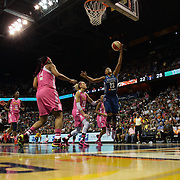Maya Moore, Minnesota Lynx,  in action during the Connecticut Sun Vs Minnesota Lynx, WNBA regular season game at Mohegan Sun Arena, Uncasville, Connecticut, USA. 27th July 2014. Photo Tim Clayton