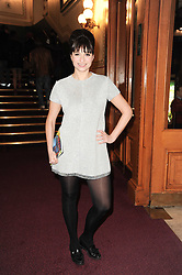 GIZZI ERSKINE at the gala opening night of Cirque du Soleil's Varekai at the Royal Albert Hall, London on 5th January 2010.