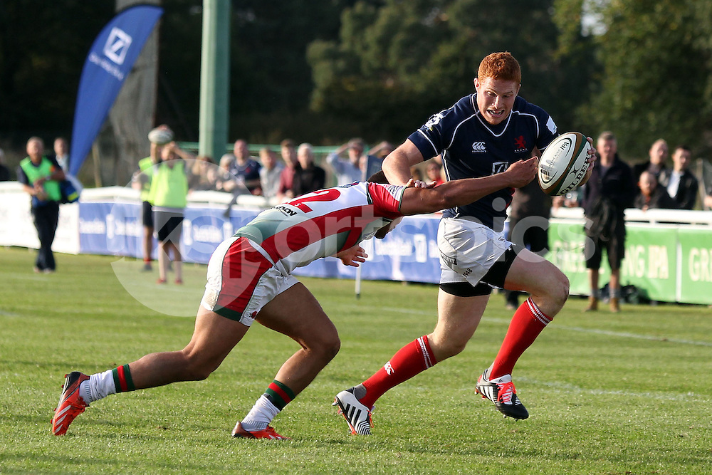 Connor Braid in action during the Green King IPA Championship match between London Scottish &amp; Plymouth Albion at Richmond, Greater London on Sunday 5th October 2014<br /> <br /> Photo: Ken Sparks | UK Sports Pics Ltd<br /> London Scottish v Plymouth Albion, Green King IPA Championship,5th October 2014<br /> <br /> &copy; UK Sports Pics Ltd. FA Accredited. Football League Licence No:  FL14/15/P5700.Football Conference Licence No: PCONF 051/14 Tel +44(0)7968 045353. email ken@uksportspics.co.uk, 7 Leslie Park Road, East Croydon, Surrey CR0 6TN. Credit UK Sports Pics Ltd