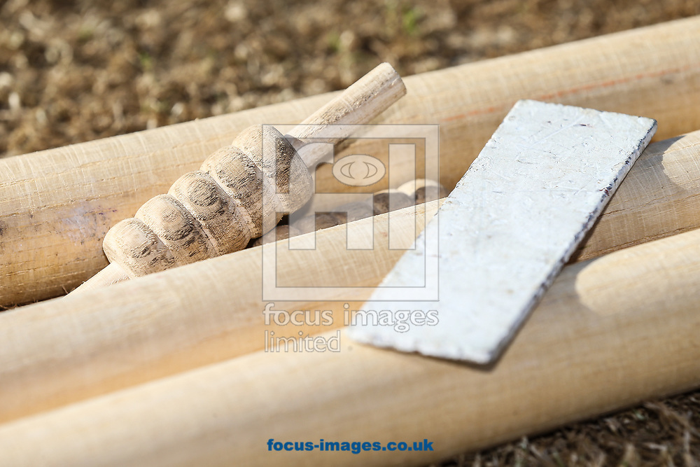 Stumps and bails during day two of the Friendly match at the County Ground, Northampton<br /> Picture by Andy Kearns/Focus Images Ltd 0781 864 4264<br /> 03/04/2017