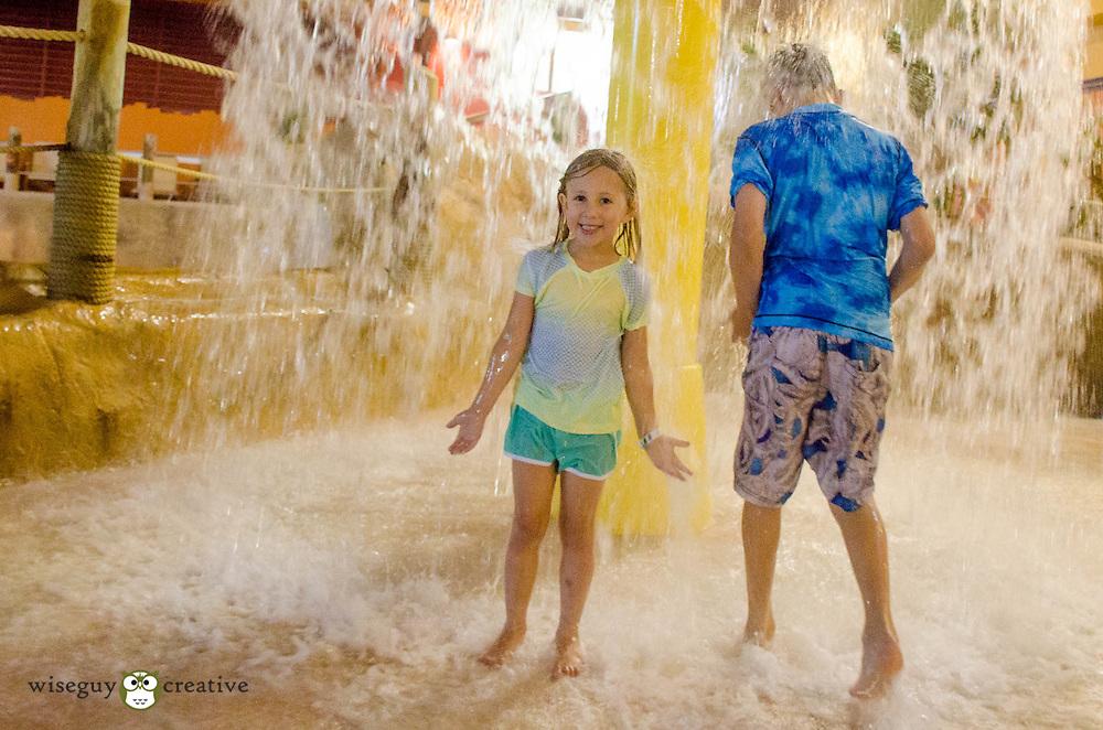 Kids enjoy some splash time at Kahuna Laguna at the Red Jacket in North Conway. NH