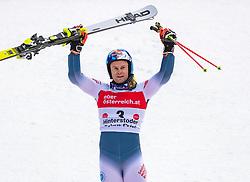 02.03.2020, Hannes Trinkl Weltcupstrecke, Hinterstoder, AUT, FIS Weltcup Ski Alpin, Riesenslalom, Herren, 2. Lauf, im Bild Alexis Pinturault (FRA, 1. Platz) // winner Alexis Pinturault of France reacts after his 2nd run of men's Giant Slalom of FIS ski alpine world cup at the Hannes Trinkl Weltcupstrecke in Hinterstoder, Austria on 2020/03/02. EXPA Pictures © 2020, PhotoCredit: EXPA/ Johann Groder