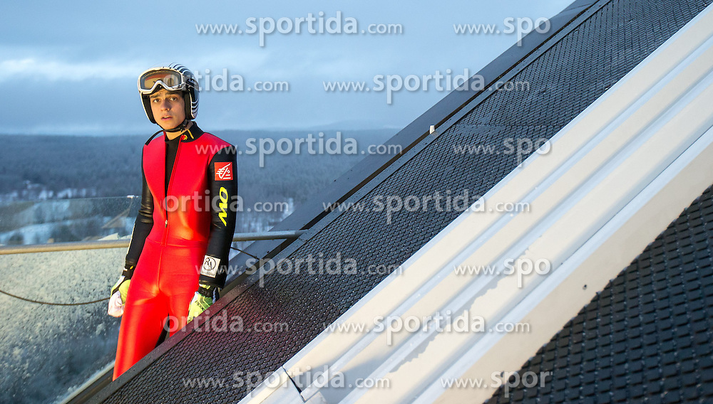 24.02.2015, Lugnet Ski Stadium, Falun, SWE, FIS Weltmeisterschaften Ski Nordisch, Skisprung, Herren, Training, im Bild Ronan Lamy Chappuis (FRA) // Ronan Lamy Chappuis of France during the Mens Skijumping Training of the FIS Nordic Ski World Championships 2015 at the Lugnet Ski Stadium, Falun, Sweden on 2015/02/24. EXPA Pictures © 2015, PhotoCredit: EXPA/ JFK
