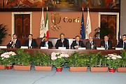ROMA 12 MAGGIO 2010<br /> BASKET FIP<br /> CONFERENZA STAMPA BELINELLI E CUZZOLIN<br /> NELLA FOTO CUZZOLIN MENEGHIN BELINELLI PITTIS PETRUCCI LAGUARDIA PAGNOZZI<br /> FOTO CIAMILLO