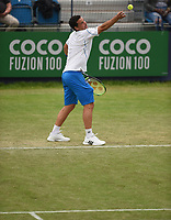 Alex Bolt on Day Six of the Fuzion 100 Surbiton Trophy at the Surbiton Racket & Fitness Club, Surrey, United Kingdom.<br /> Picture by Daniel Hambury/Focus Images Ltd 07813022858<br /> 07/06/2018