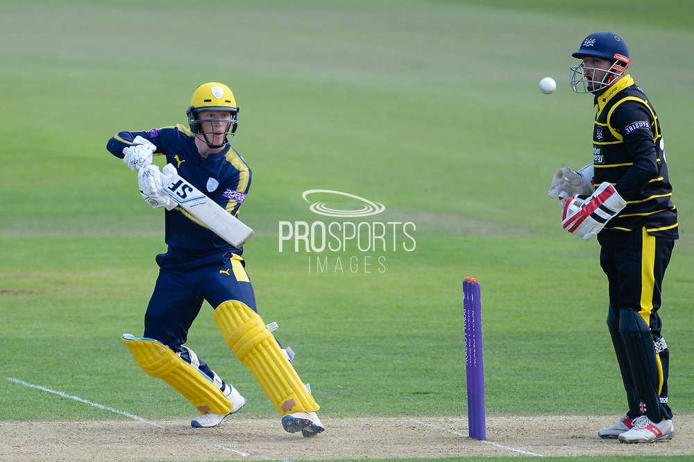 Tom Alsop of Hampshire batting during the Royal London One Day Cup match between Hampshire County Cricket Club and Gloucestershire County Cricket Club at the Ageas Bowl, Southampton, United Kingdom on 7 May 2017. Photo by David Vokes.