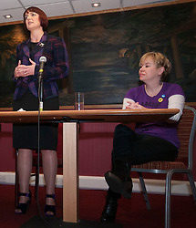 Cabinet Secretary for Training, Youth and Women's Employment, Angela Constance, MSP, launched her campaign to become the next Depute Leader of the SNP. Ms Constance is MSP for Almond Valley. Pictured Angela Constance and Lorn Skirving.  Addiewell 1 October 2014 Ger Harley | StockPix.eu