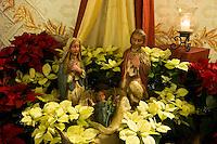 Statuettes of Baby Jesus and Parents, Mission San Luis Obispo, California