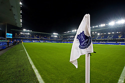 LIVERPOOL, ENGLAND - Monday, December 19, 2016: The corner flag at Goodison Park ahead of the FA Premier League match between Everton and Liverpool, the 227th Merseyside Derby, at Goodison Park. (Pic by Gavin Trafford/Propaganda)