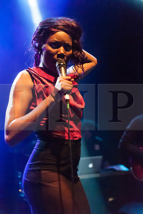 © Licensed to London News Pictures. 13/03/2013. London, UK.   Lulu James performing live at O2 Shepherds Bush Empire, supporting headliner Jessie Ware.  Lulu James is a British soul singer-songwriter.   Photo credit : Richard Isaac/LNP