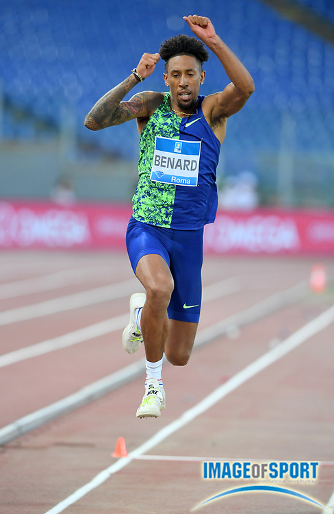 Chris Benard (USA) places seventh in the triple jump at 55-4¾ (16.88m)during the 39th Golden Gala Pietro Menena in an IAAF Diamond League meet at Stadio Olimpico in Rome on Thursday, June 6, 2019. (Jiro Mochizuki/Image of Sport)