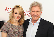 """PARIS - JANUARY 14:  Rachel Mc Adams and Harrison Ford attend """"Morning Glory"""" Photocall at Hotel Meurice on January 14, 2011 in Paris, France.  (Photo by Tony Barson/FilmMagic)"""