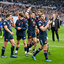 Camille Lopez and Team of France celebrates the victory during the RBS Six Nations match between France and Wales at Stade de France on March 18, 2017 in Paris, France. (Photo by Anthony Dibon/Icon Sport)