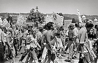 Memorial day march during Peoples Park Student protest & riots in Berkeley California May 30 1969
