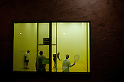 Sun City residents play racketball at the Bell Recreation Center, one of seven rec centers in the city, December 8, 2009.