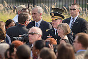 11.SEPTEMBER.2013. WASHINGTON D.C.<br /> <br /> 18TH CHAIRMAN OF THE JOINT CHIEFS OF STAFF ARMY GEN. MARTIN E. DEMPSEY JOINED SECRETARY OF DEFENSE CHUCK HAGEL AND PRESIDENT BARRACK OBAMA IN HOSTING THE PENTAGON OBSERVANCE CEREMONY, SEPT. 11, 2013. THE EVENT WAS INVITATION-ONLY FOR SURVIVORS AND FAMILY MEMBERS OF THOSE WHO LOST THEIR LIVES AFTER THE 9/11 EVENT AT THE PENTAGON TWELVE YEARS AGO.<br /> <br /> BYLINE: EDBIMAGEARCHIVE.CO.UK<br /> <br /> *THIS IMAGE IS STRICTLY FOR UK NEWSPAPERS AND MAGAZINES ONLY*<br /> *FOR WORLD WIDE SALES AND WEB USE PLEASE CONTACT EDBIMAGEARCHIVE - 0208 954 5968*