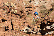 Darren Berrecloth Cliff Drop at the 2010 Red Bull Rampage freeride compeition