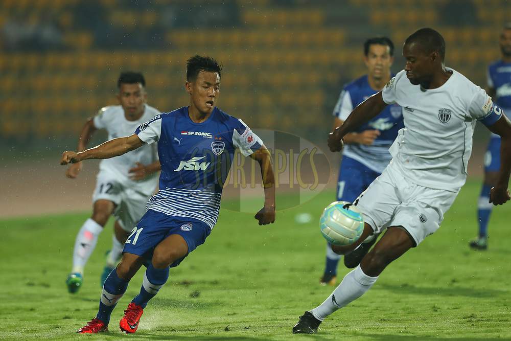 Udanta Singh Kumam of Bengaluru FC during match 19 of the Hero Indian Super League between NorthEast United FC and Bengaluru FC held at the Indira Gandhi Athletic Stadium, Guwahati India on the 8th December 2017<br /> <br /> Photo by: Ron Gaunt / ISL / SPORTZPICS