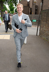 © Licensed to London News Pictures. 31/05/2019.<br /> Medway,UK. Katie Prices's boyfriend Kris Boyson Leaving Medway Magistrates Court in Kent with a smile on his face.  He is charged with using threatening or abusive language and behaviour against a police officer.    Photo credit: Grant Falvey/LNP