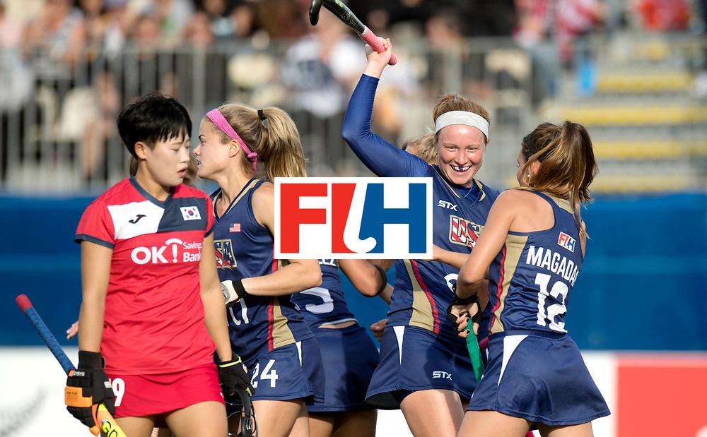 AUCKLAND - Sentinel Hockey World League final women<br /> Match id 10291<br /> USA v KOR (Pool A)<br /> Foto: goal celebration USA.<br /> WORLDSPORTPICS COPYRIGHT FRANK UIJLENBROEK