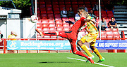 Lee Barnard stretches to create a chance for Crawley during the Sky Bet League 2 match between Crawley Town and Yeovil Town at the Checkatrade.com Stadium, Crawley, England on 19 September 2015. Photo by Michael Hulf.
