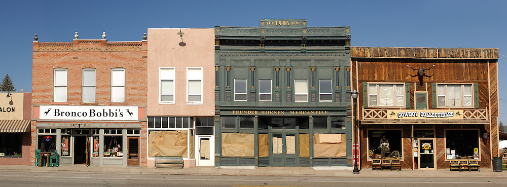 Panorama, Classic small town, Panguitch, Utah, USA