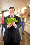 Celebrity Shopper Joe  Cimperman's portrait for the West Side Market feature package for Cleveland Magazine shot on Wednesday, Oct. 3, 2012.