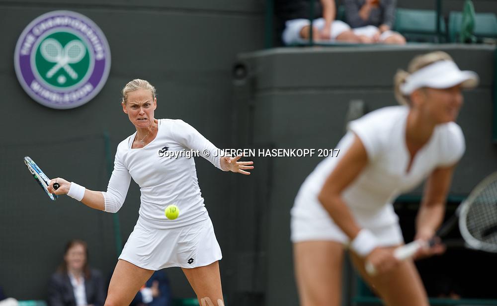ANNA-LENA GROENEFELD / KVETA PESCHKE, Daman Doppel<br /> <br /> Tennis - Wimbledon 2017 - Grand Slam ITF / ATP / WTA -  AELTC - London -  - Great Britain  - 14 July 2017.