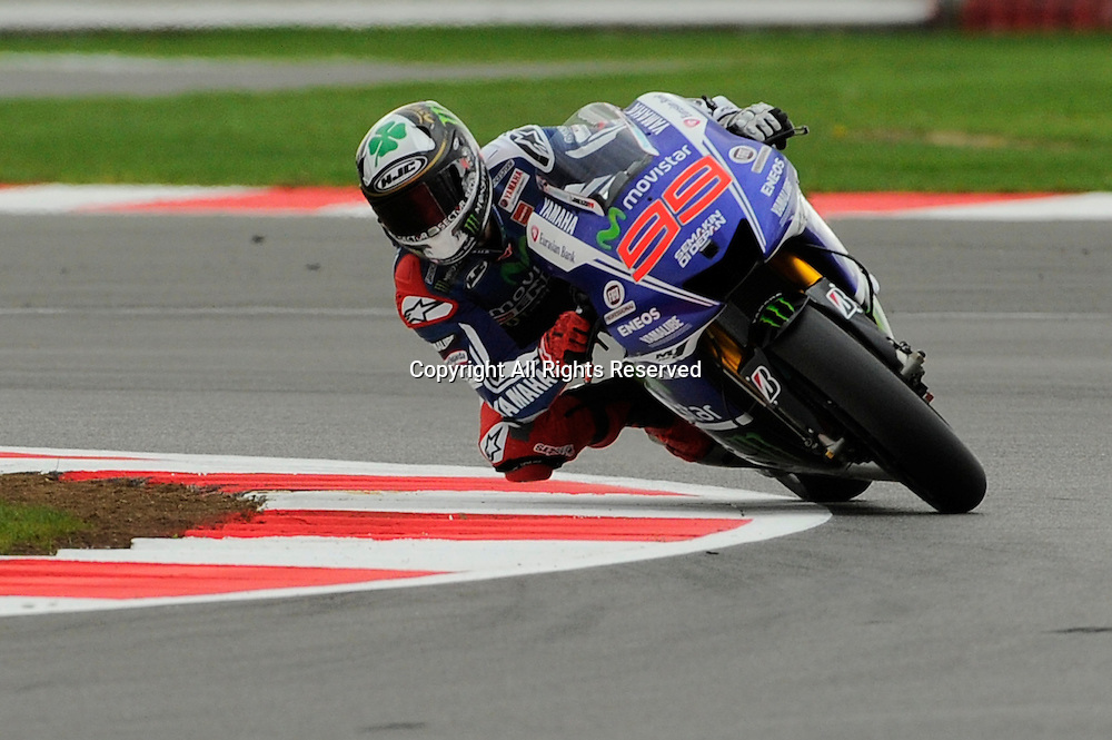 29.08.2014.  Silverstone, England. MotoGP. British Grand Prix.Jorge Lorenzo (movistar Yamaha Team)during the free practice sessions