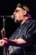 Pat DiNizio on guitar and vocals during The Smithereens' performance at The Landis Theater in Vineland, NJ.