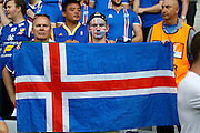 Iceland fans before the Round of 16 Euro 2016 match between England and Iceland at Stade de Nice, Nice, France on 27 June 2016. Photo by Andy Walter.