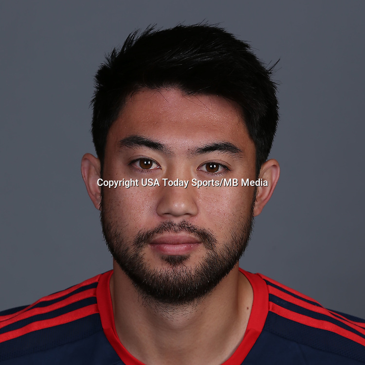 Jan 23, 2015; New England Revolution player Lee Nguyen poses for a photo.