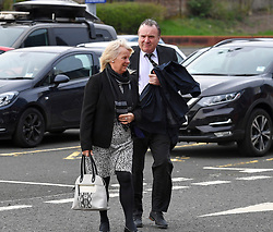 Pictured: Clutha bar owner Alan Crossan arrives at the inquiry.<br /> <br /> The long awaited Fatal Accident Inquiry into the 2013 accident, where a police helicopter crashed into the Clutha Bar in Glasgow, killing all three helicopter crew and seven customers in the bar, opened at Hamden Park in front of Sheriff Principal Craig Turnbull.<br /> <br /> © Dave Johnston / EEm